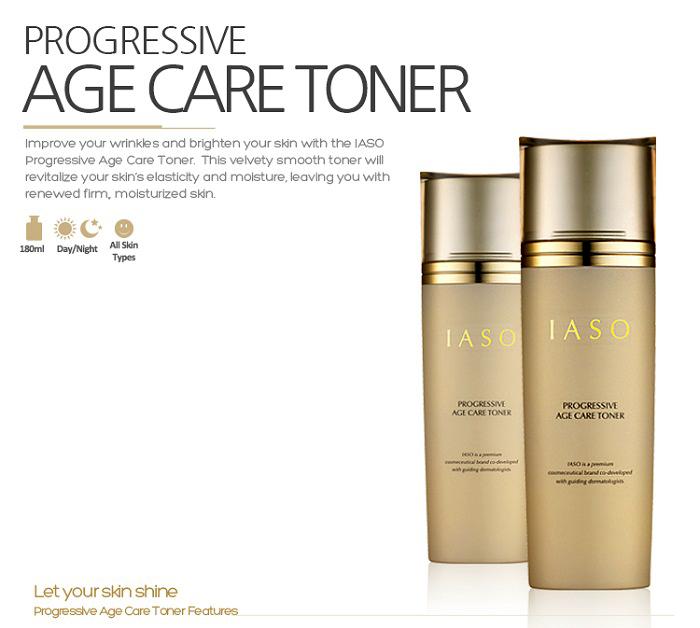 Nước hoa hồng chống lão hoá IASO Progressive Age Care Toner